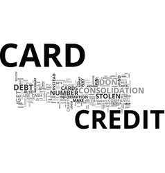 what to do when you loose your credit card text vector image