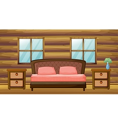 An organized bedroom vector image vector image
