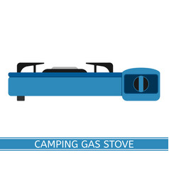 camping gas stove vector image vector image