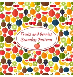 Fruits seamless pattern background Colorful vector image vector image