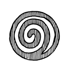 hand drawn spiral vector image