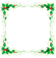 Merry christmas and happy new year square corner vector