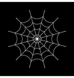 Spider web sign vector image