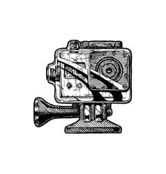 action camera vector image