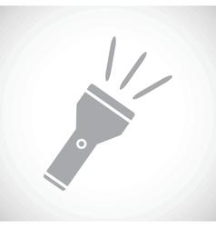 Flashlight black icon vector image