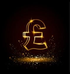 gold pound sterling symbol vector image vector image