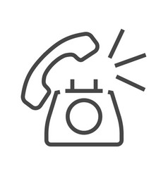 Phone thin line icon vector