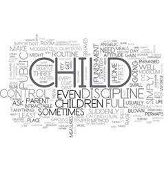 what to do when your child acts up text word vector image vector image