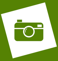 digital photo camera sign white icon vector image vector image