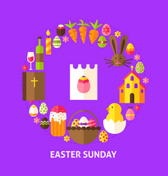 Easter sunday postcard vector