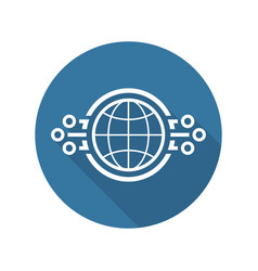 global networking icon vector image