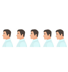 male profile avatar expressions set man facial vector image vector image
