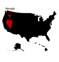 Map of the us state of nevada vector