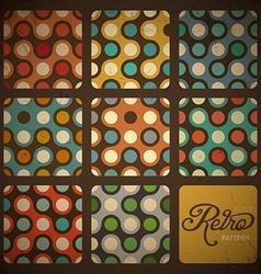 Retro Pattern Set vector image vector image