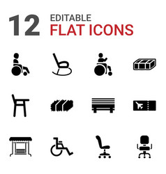 12 seat icons vector