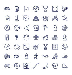 49 game icons vector