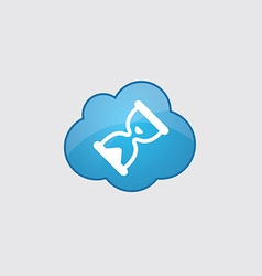 Blue hourglass icon vector