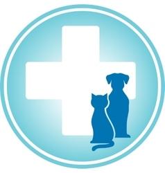 Blue veterinary symbol vector