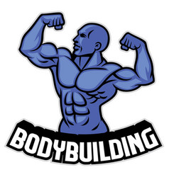 Bodybuilder pose vector
