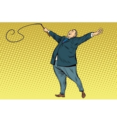 Boss trainer with a whip vector image