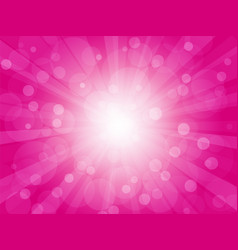 brightly pink background with rays vector image