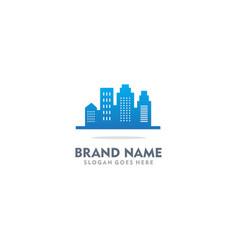 Building urban real estate company logo vector