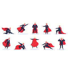 businessman superhero office worker in action vector image
