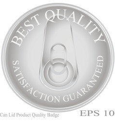 can lid product quality badge and emblem vector image