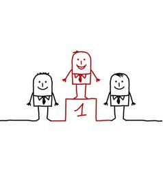 Cartoon characters - leadership vector