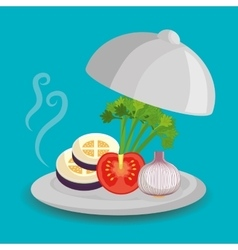 Catering service design vector
