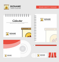 chimney logo calendar template cd cover diary and vector image