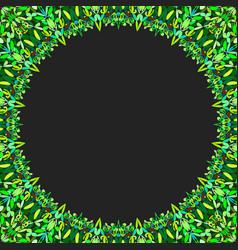 circular floral frame ornament - background design vector image