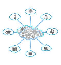 Cloud computing diagram vector image