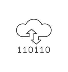 cloud storage line outline icon vector image