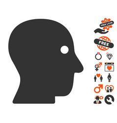 Customer profile icon with love bonus vector