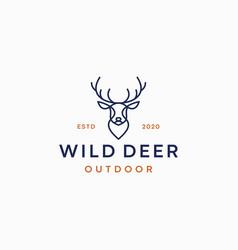 deer lineart logo design template vector image