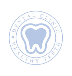 Dental clinic healthy teeth logo symbol vector