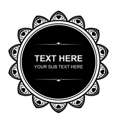 Design element for text vector