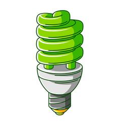 Energy saving light bulb ecology vector