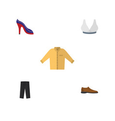 flat icon dress set of brasserie banyan pants vector image
