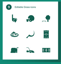 grass icons vector image