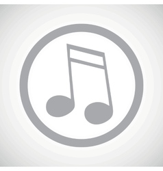 Grey 16th note sign icon vector