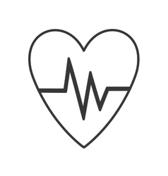 heart with cardio pulse vector image