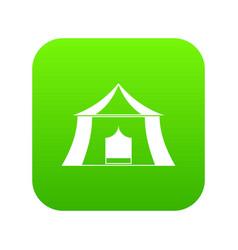 Hiking pavilion icon digital green vector