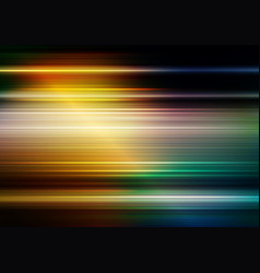 Horizontal speed lines with lighting and colorful vector