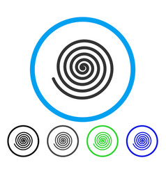 Hypnosis rounded icon vector