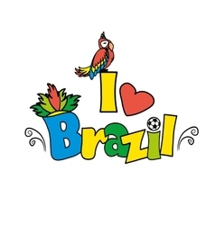I love Brazil illutration vector image