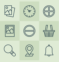 icons set collection of positive bell research vector image