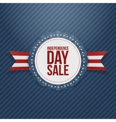 Independence Day Sale realistic Tag vector image