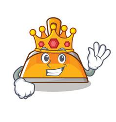 King dustpan character cartoon style vector